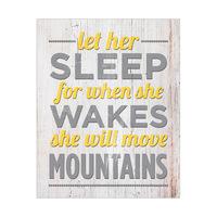 Let Her Sleep on Wood