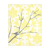 Bird on Tree - Design Yellow