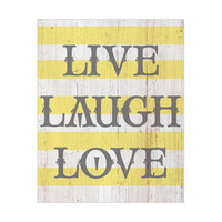 Live Laugh Love - Distressed Stripes