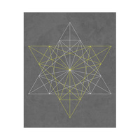 6 Point Star - Yellow Lines