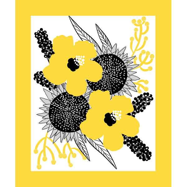 Yellow and Gray Flowers