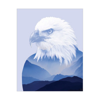 Blue Eagle in the Sky