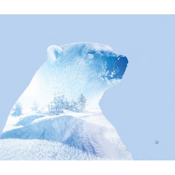 Blue Arctic Polar Bear