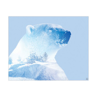 Blue Arctic Polar Bear