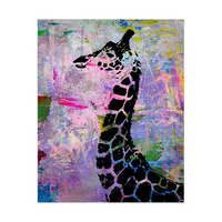 Abstract Paint - Black Giraffe