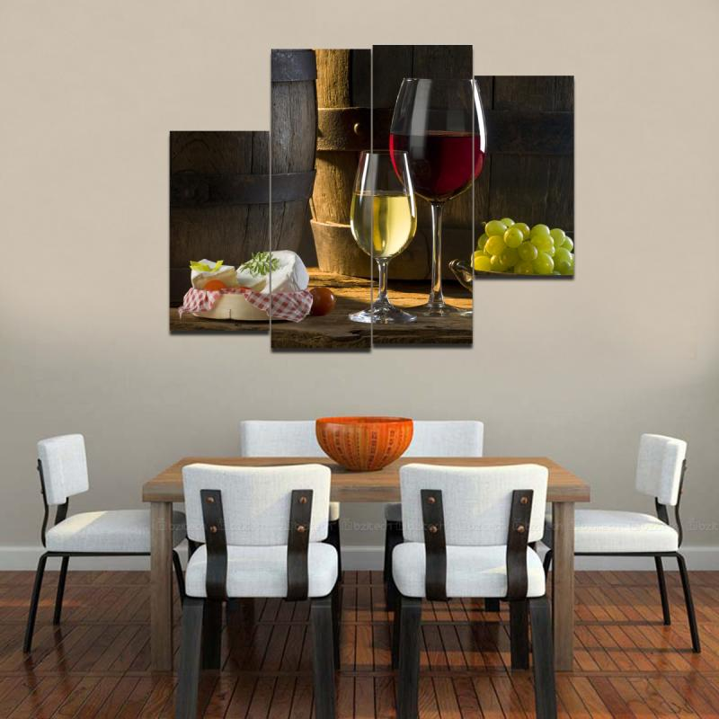 Table In Wall Dining Room Contemporary With Framed Art Modern